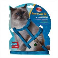 EuroCat Kedi Göğüs Tasması Açık Mavi